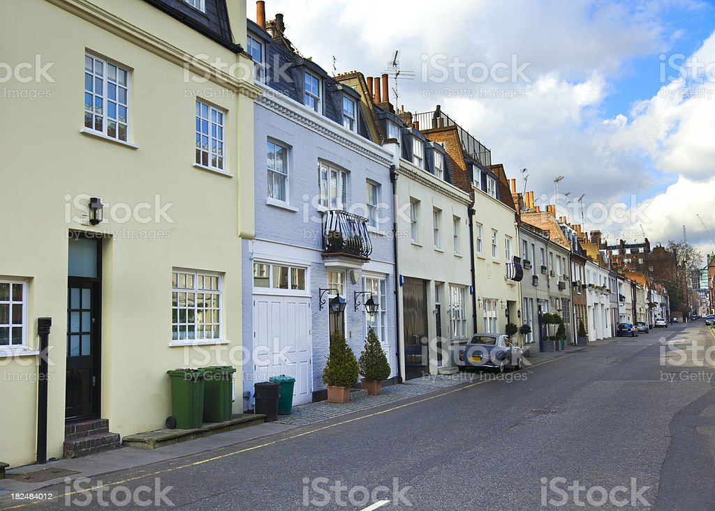 Street in Chelsea  quarter. London royalty-free stock photo