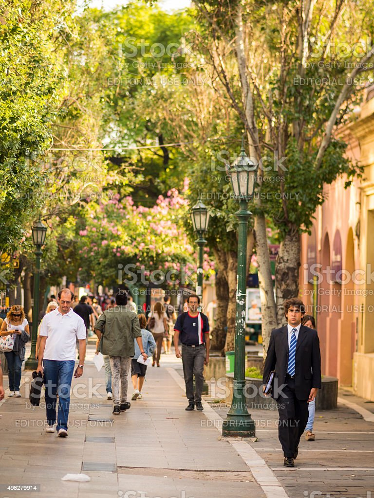 Street in Cordoba, Argentina stock photo