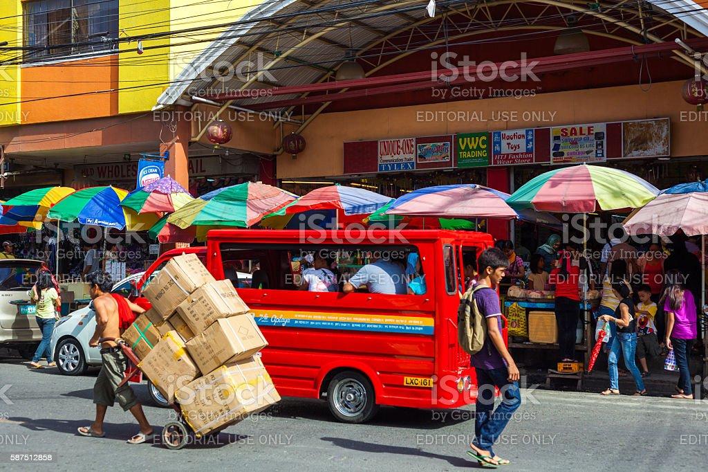 Street in Davao, Philippines stock photo