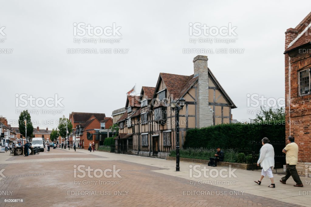 Street in England stock photo