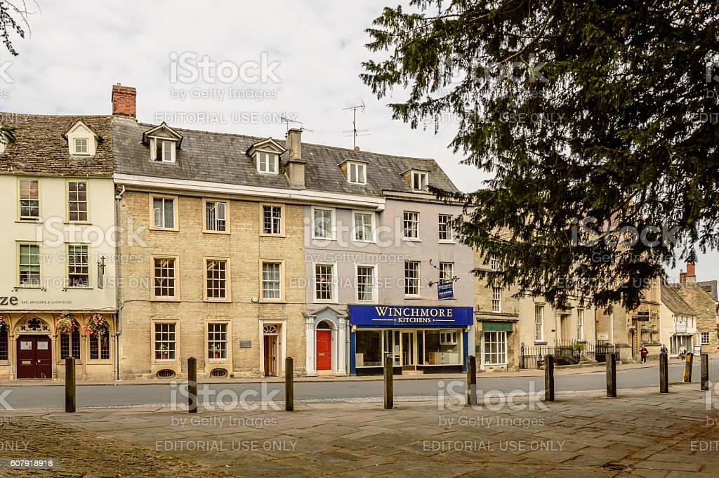 Street in english town stock photo