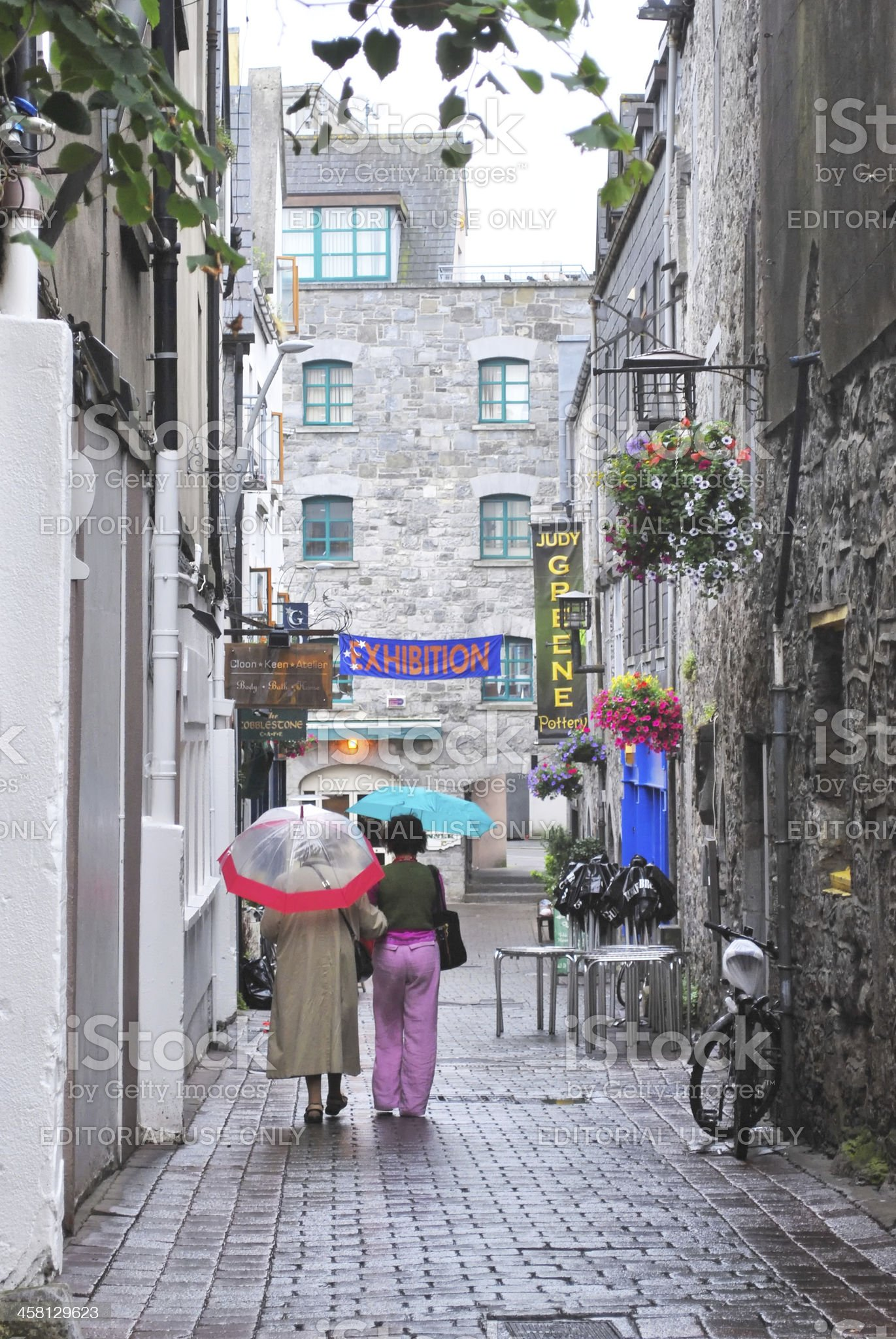 Street in Galway royalty-free stock photo