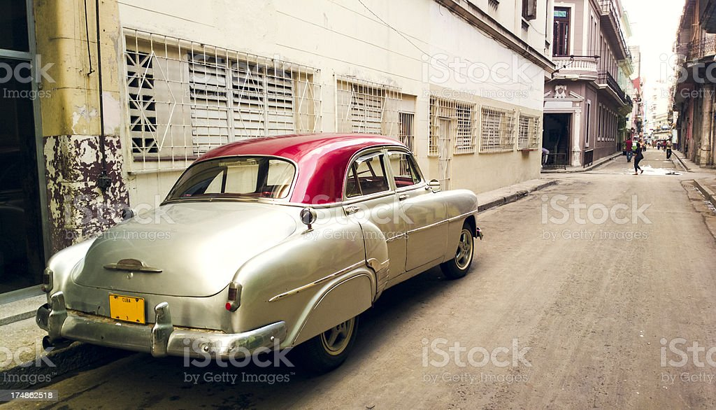 Street in Havana, Cuba royalty-free stock photo