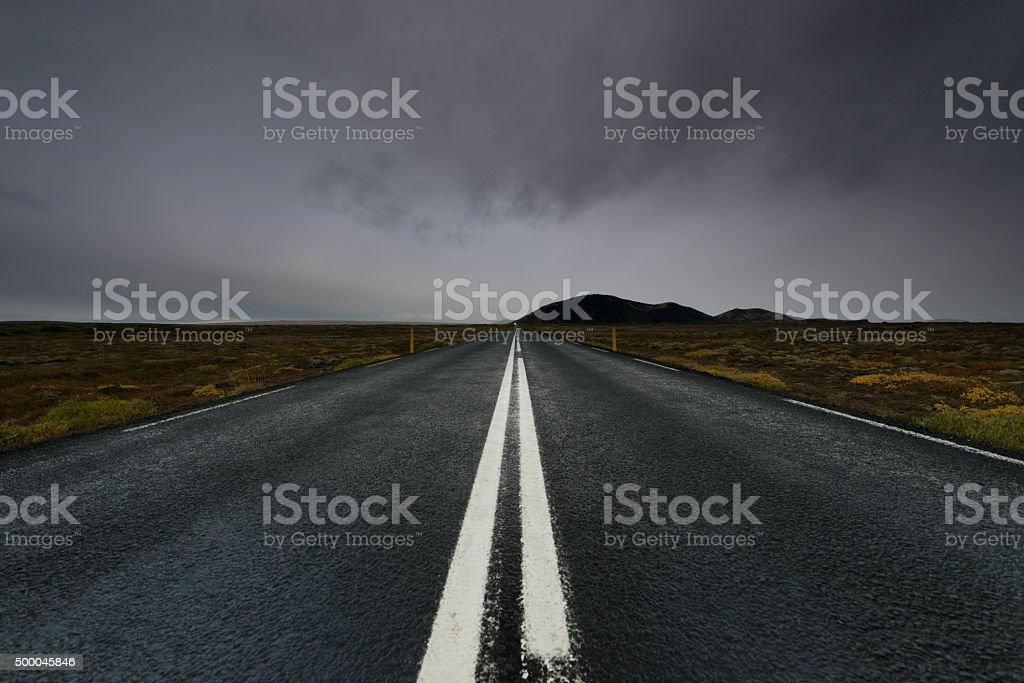 Street in Iceland stock photo