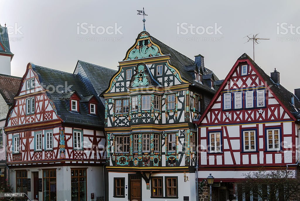 street in Idstein, Germany stock photo