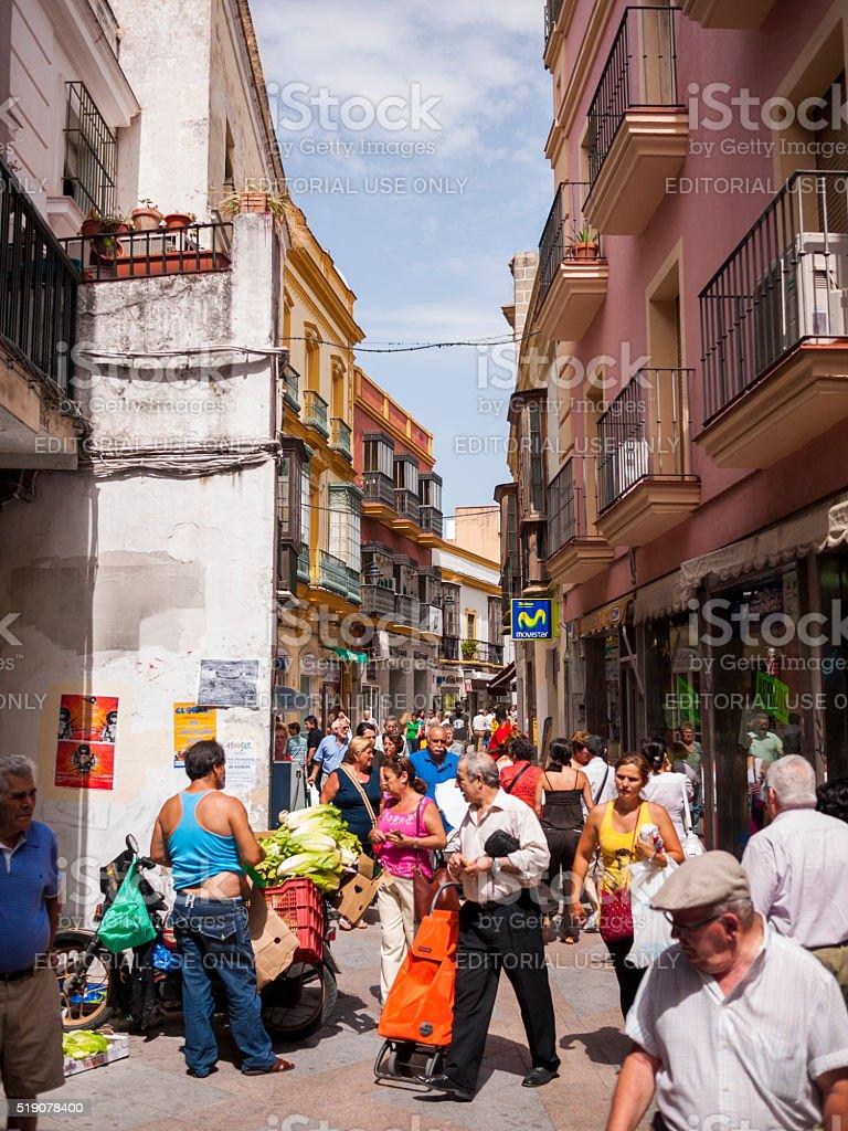 Street in Jerez, Spain stock photo