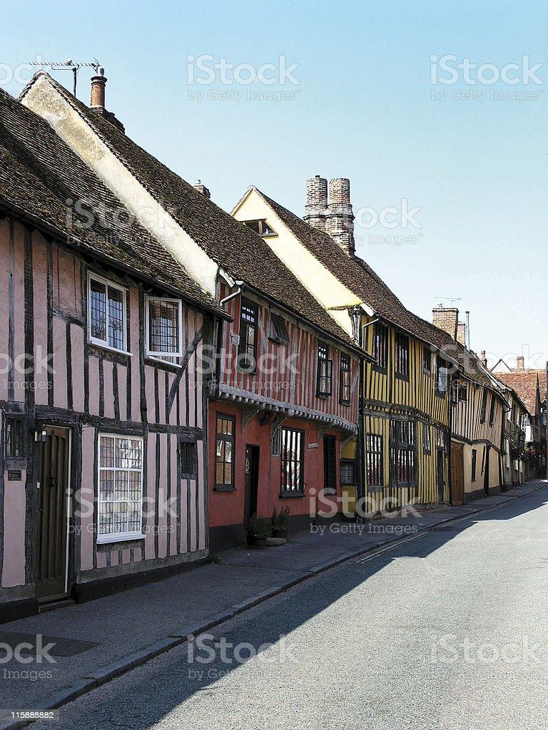 Street in Lavenham stock photo