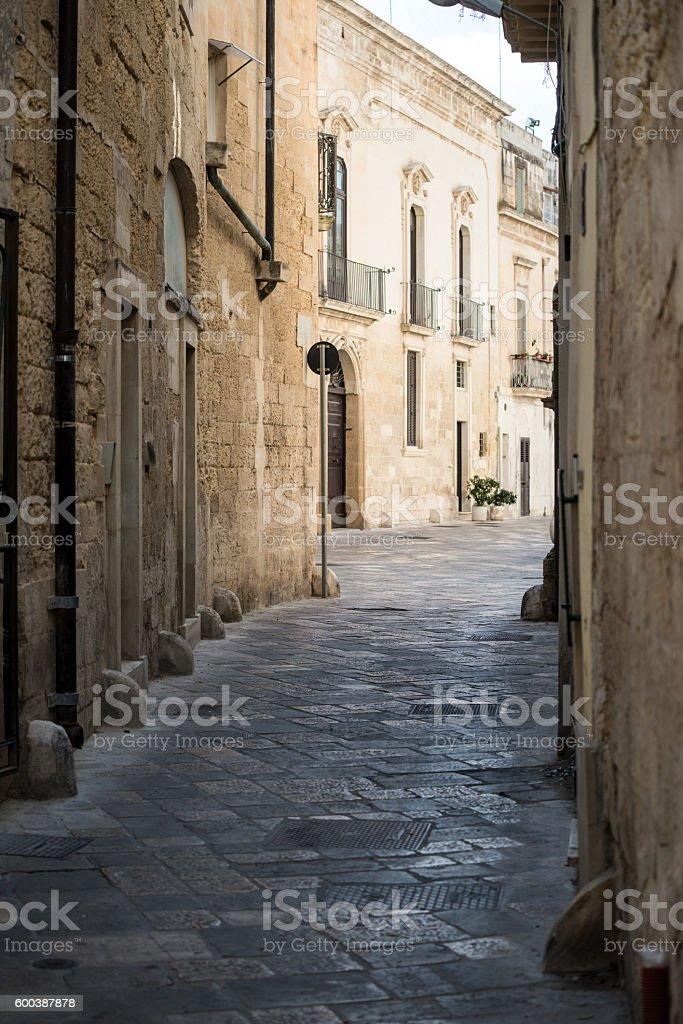 Street in Lecce, Apulia, Italy stock photo