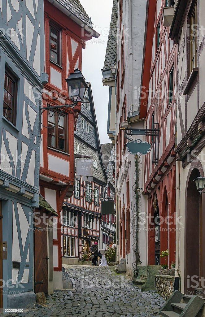 street in Limburg, Germany stock photo