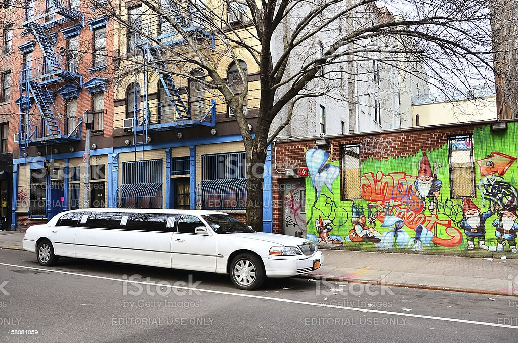 Street in Lower East Side, NY stock photo