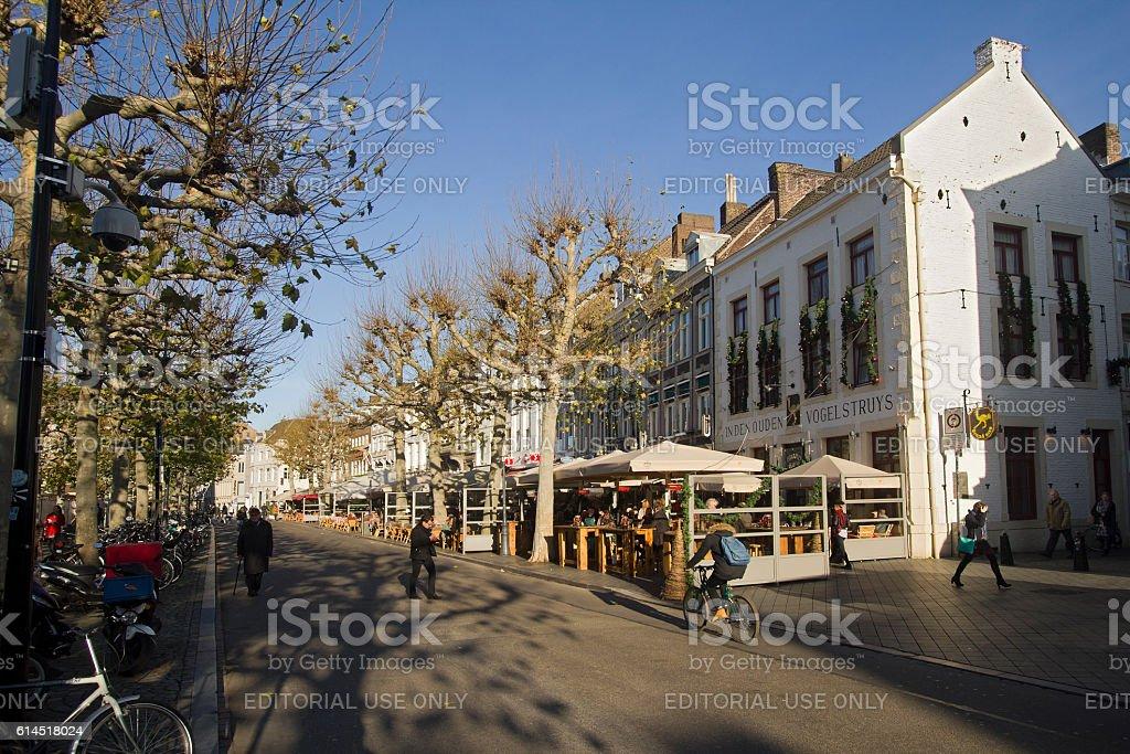 Street in Maastricht stock photo