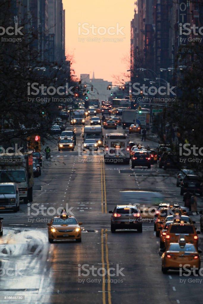 Street in Manhattan, NYC stock photo
