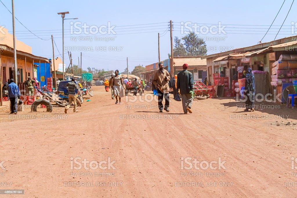 Street in Marsabit, Kenya stock photo