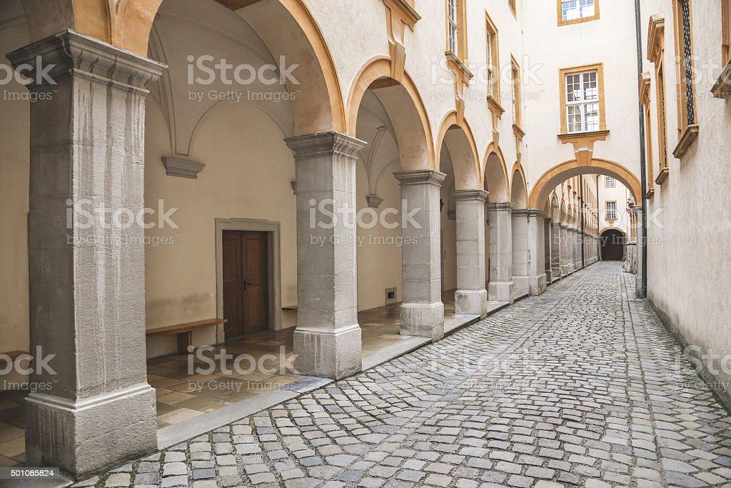 Street in Melk stock photo