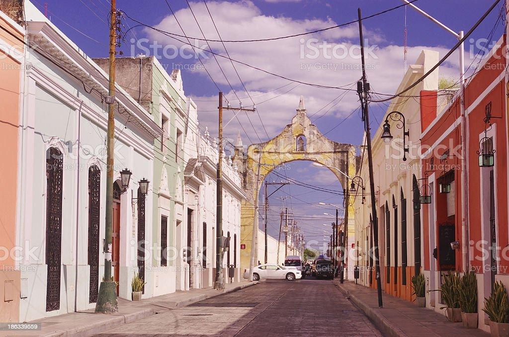 street in Merida stock photo