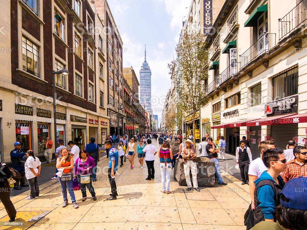 Street in Mexico City stock photo