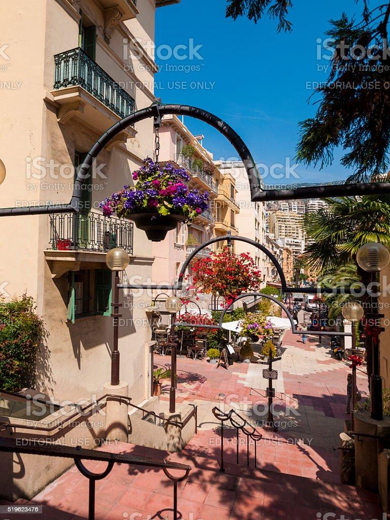 Street in Monte Carlo, Monaco stock photo