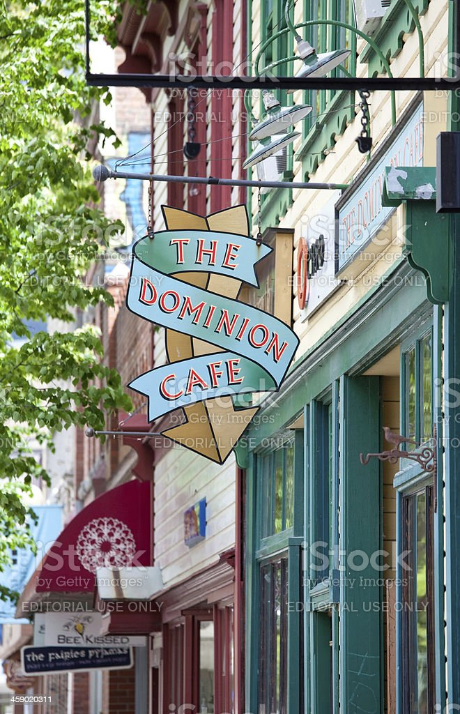 Street in Nelson British Columbia stock photo