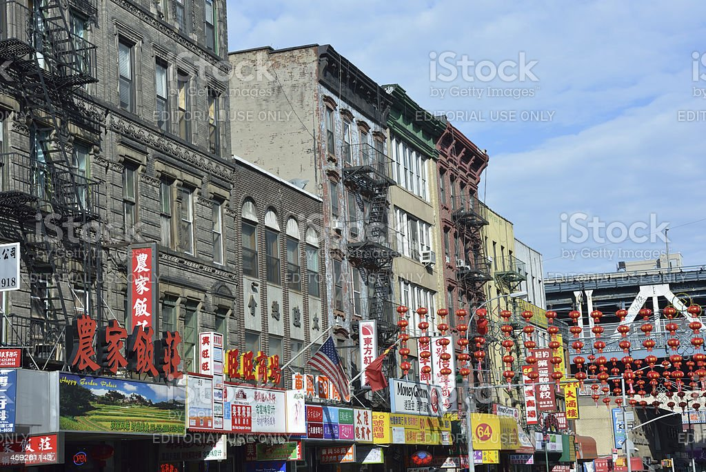 Street in New York Chinatown royalty-free stock photo