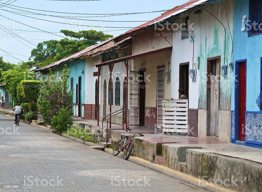 Street in Nicaragua stock photo
