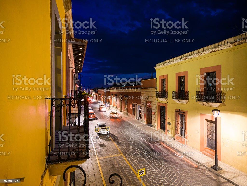 Street in Oaxaca, Mexico stock photo