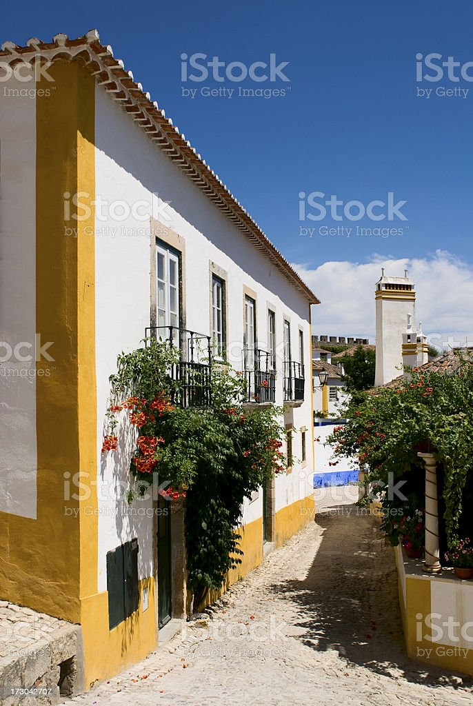 Street in Obidos, Portugal royalty-free stock photo