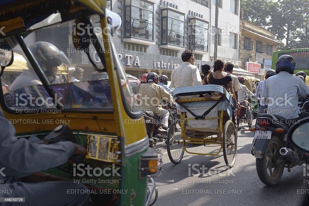 Street in old Delhi royalty-free stock photo