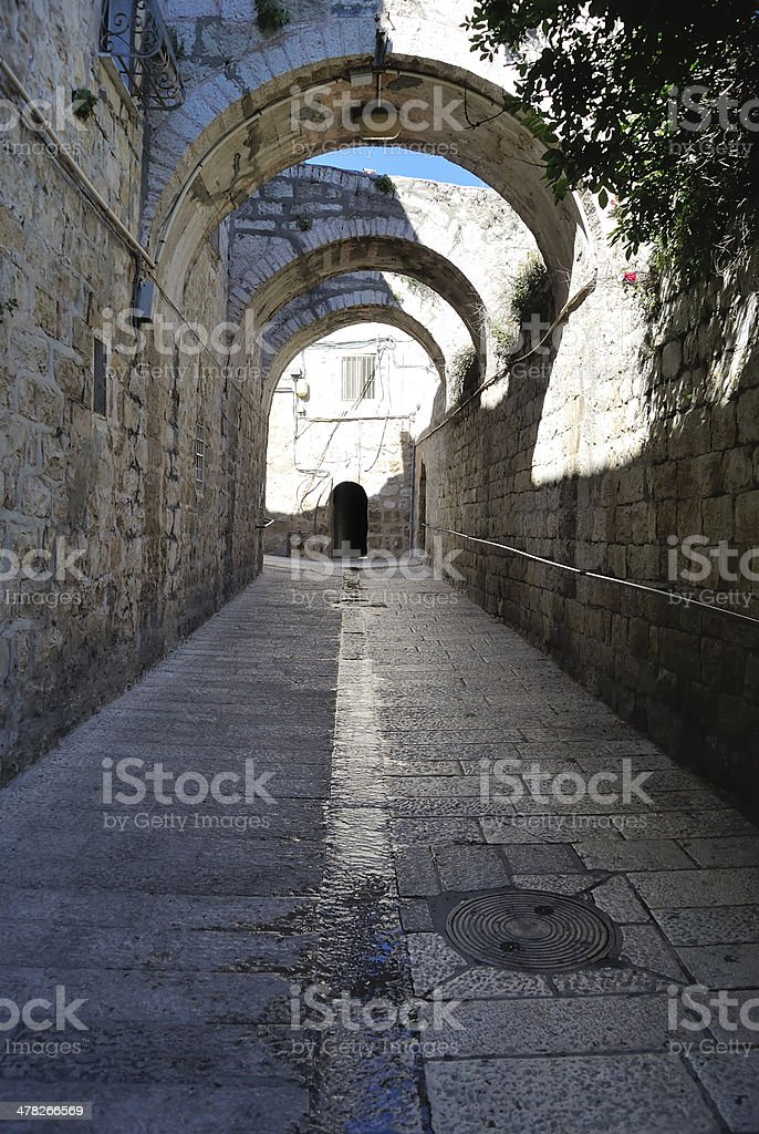 Street in old Jerusalem, Israel. royalty-free stock photo