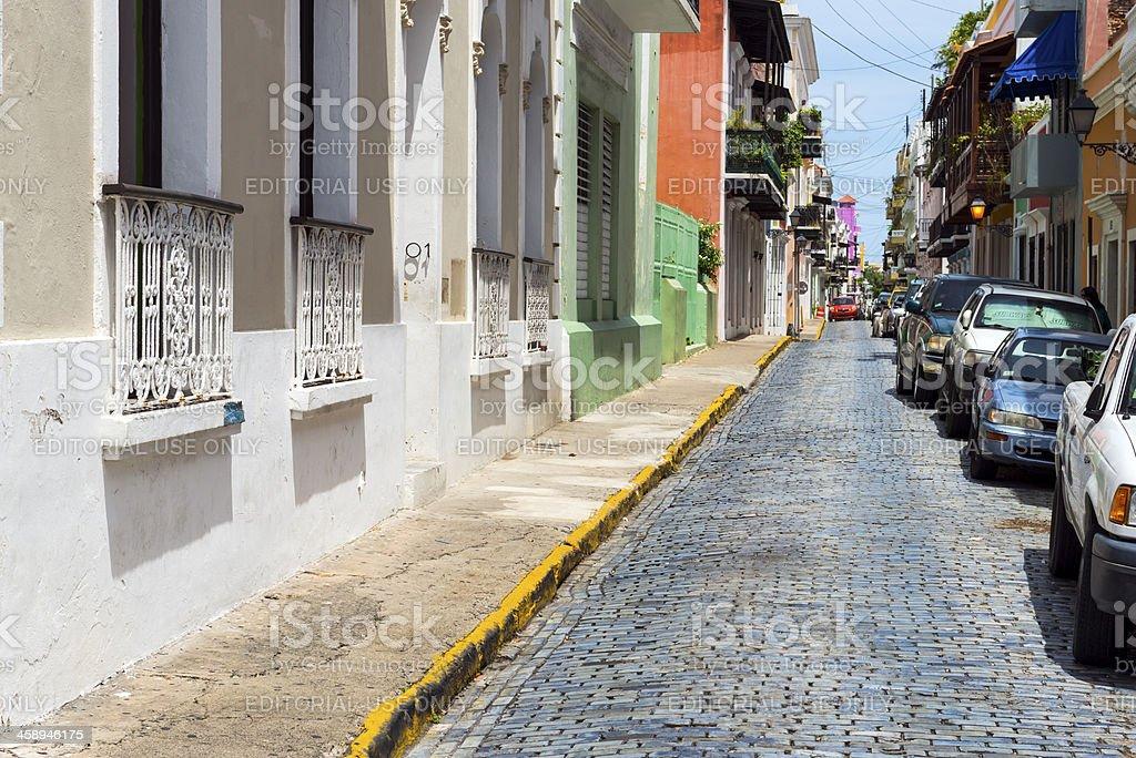Street in Old San Juan royalty-free stock photo