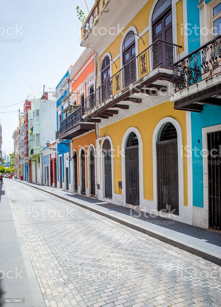 Street in old San Juan stock photo