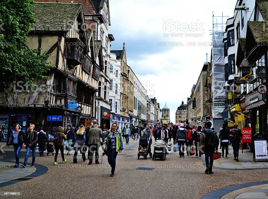 Street in Oxford. stock photo