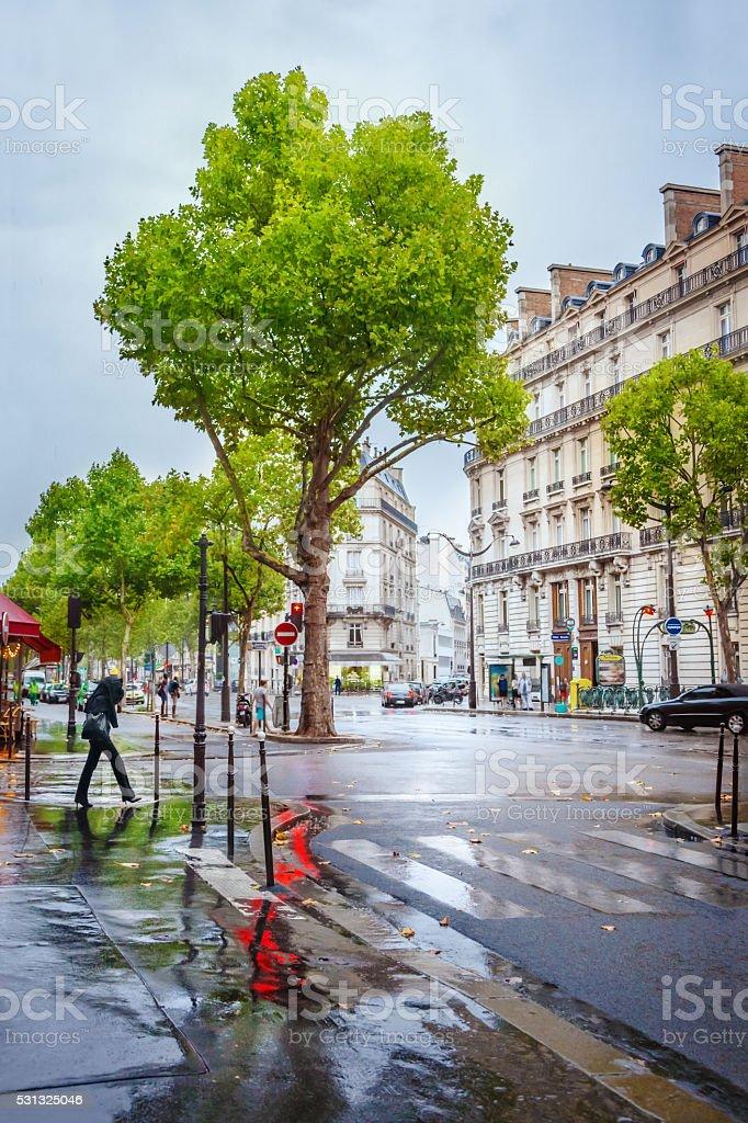 Street in Paris stock photo