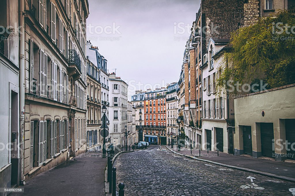 street in paris stock photo