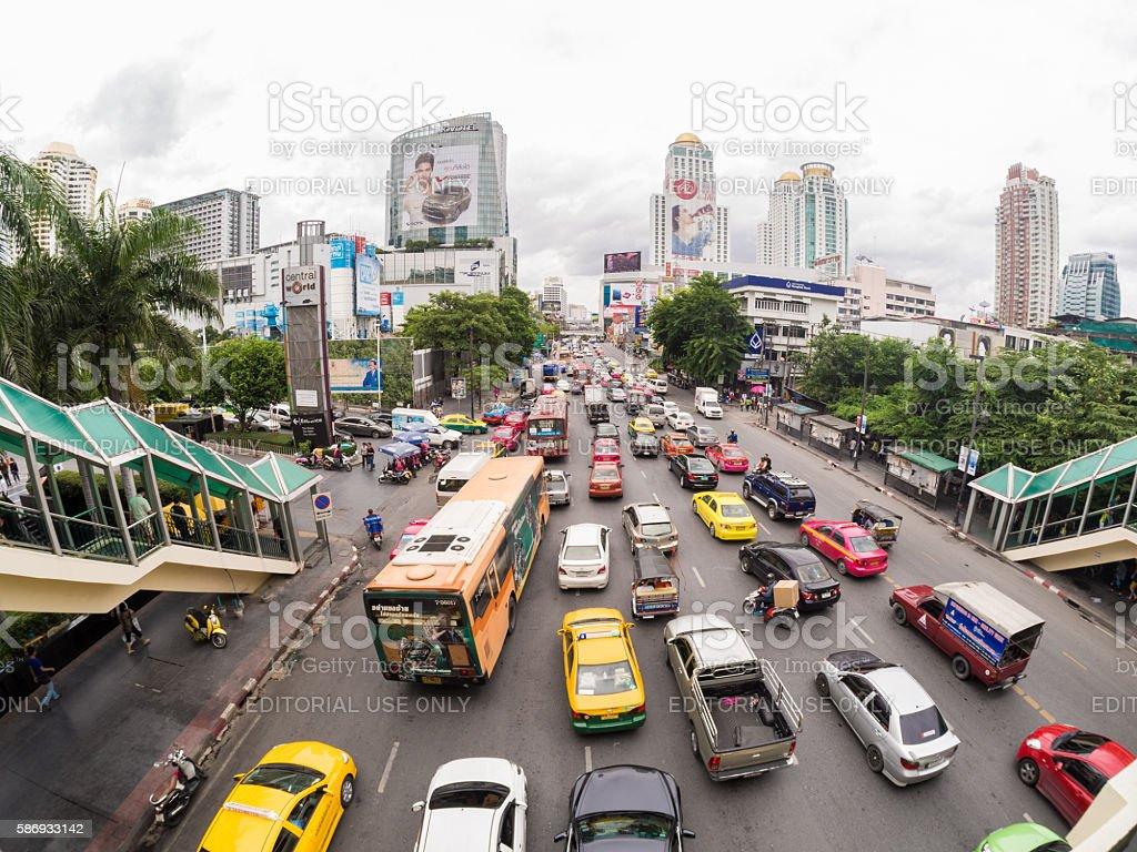 Street in Pattaya, Thailand stock photo