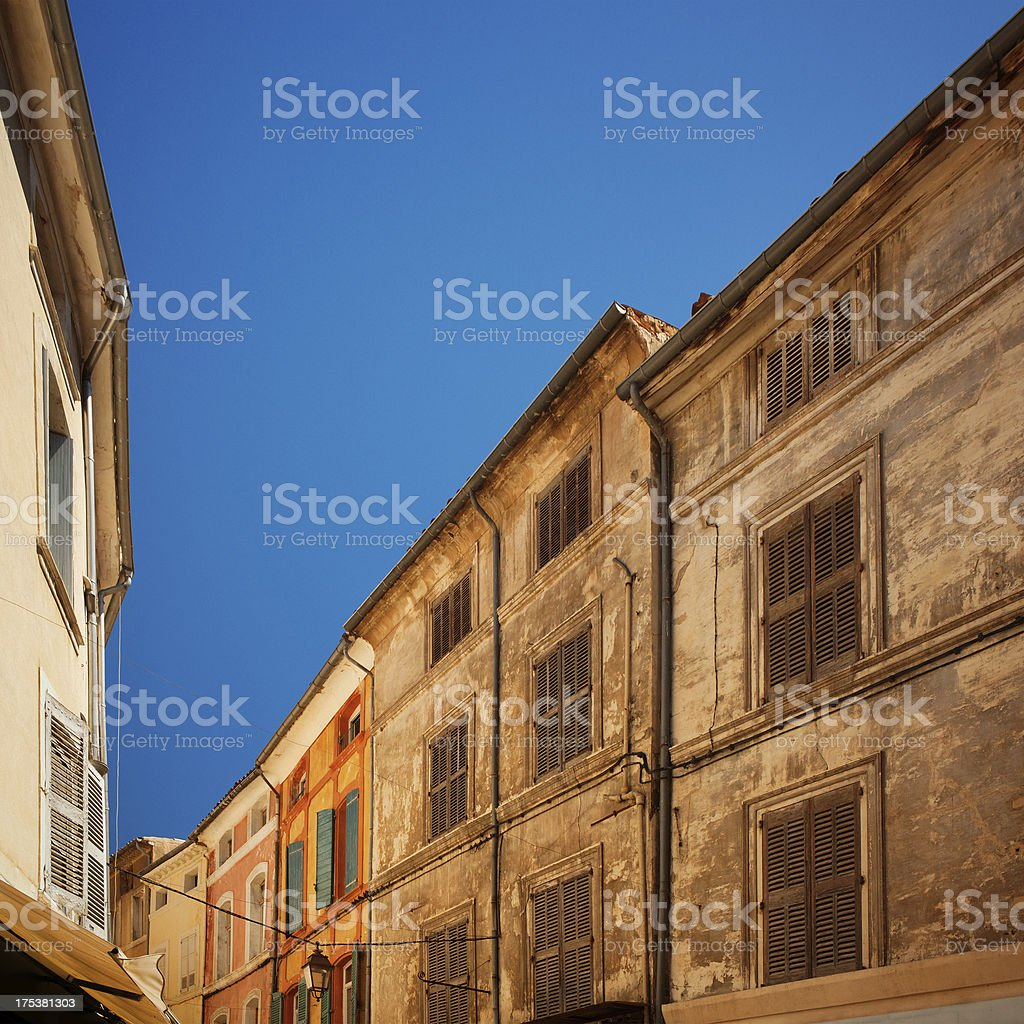 Street in Provence stock photo
