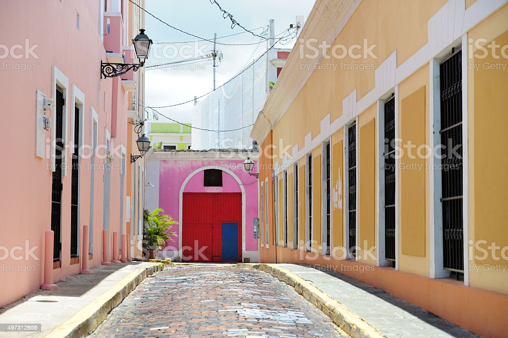 Street in Puerto Rico stock photo