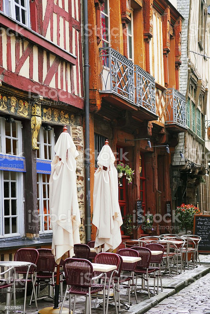 Street in Rennes royalty-free stock photo