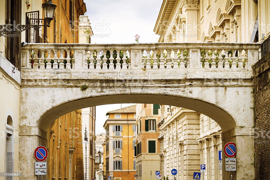 Street in Rome, Italy royalty-free stock photo