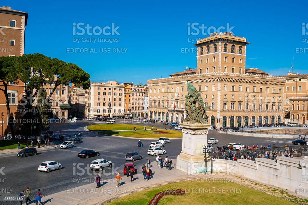 Street in Rome, Italy stock photo