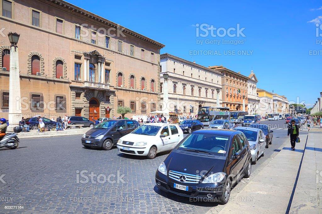 Street in Rome stock photo