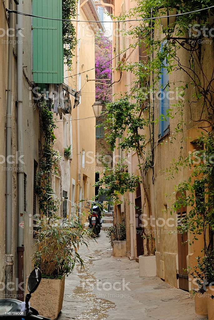 Street in Saint-Tropez, France royalty-free stock photo