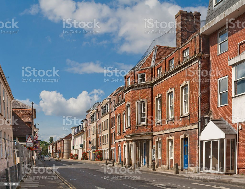 Street in Salisbury, England stock photo
