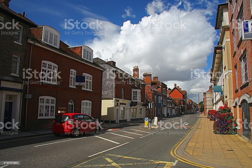 Street in Salisbury, UK stock photo