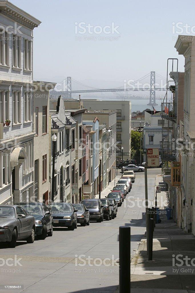 Street in San Francisco royalty-free stock photo