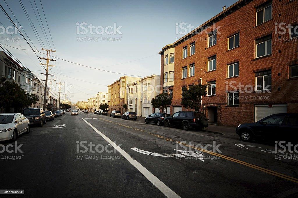 Street in San Francisco stock photo