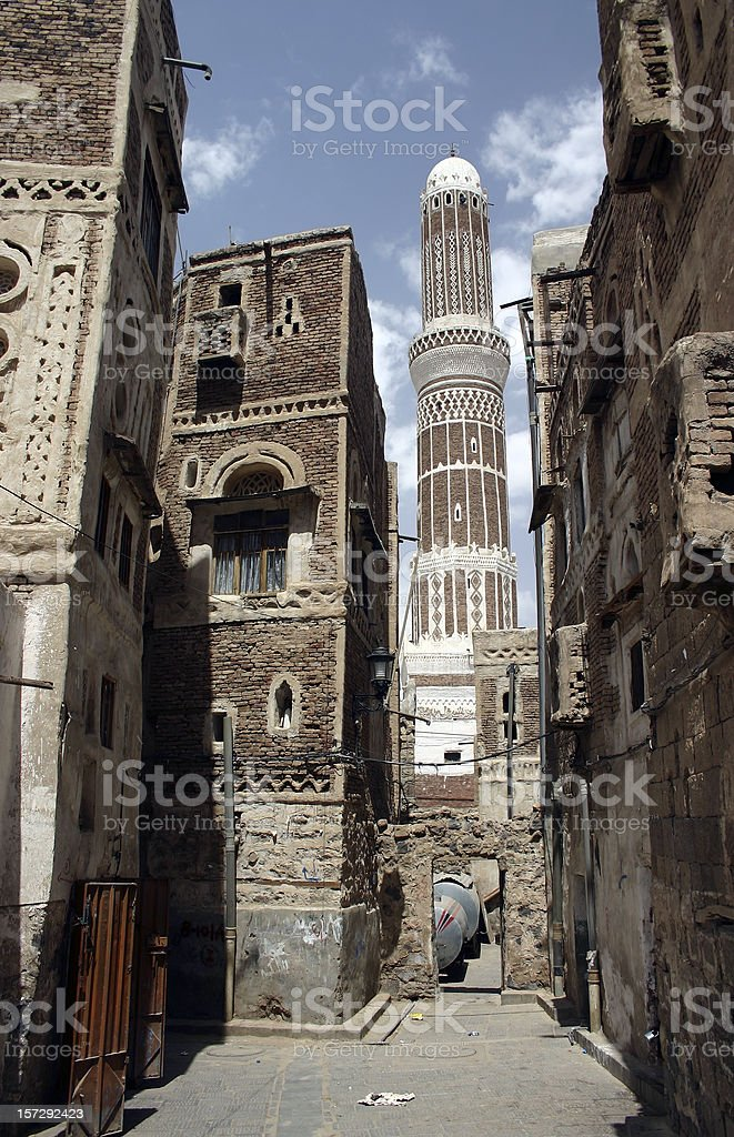 Street in Sana'a royalty-free stock photo