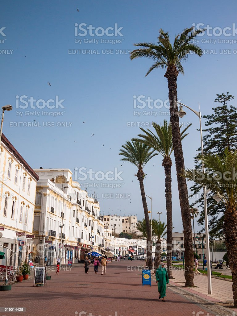 Street in Tangiers, Morocco stock photo
