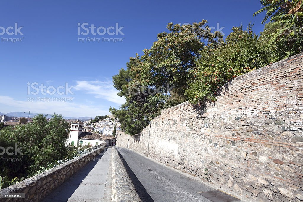 Street in the Albaycin, Granada, Spain royalty-free stock photo