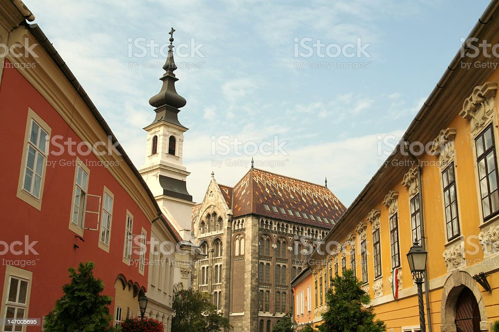Street in the castle royalty-free stock photo