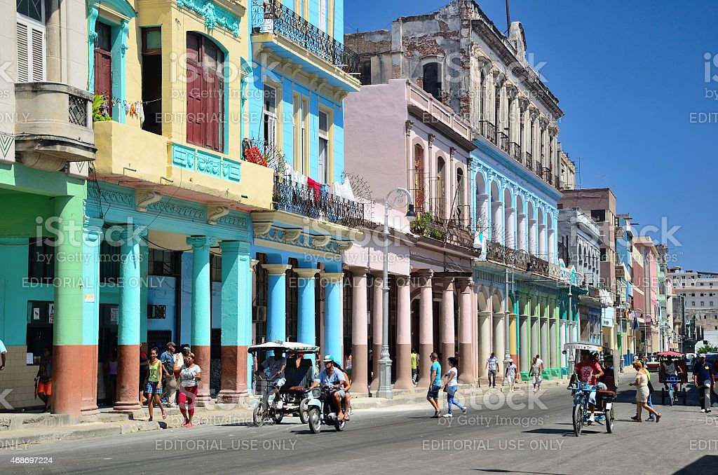 Street in the centre of Havana stock photo